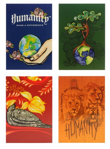 Humanity Globe in Hand Notecard Set 4 25 x 6 Inches 8 Cards and Envelopes 19532