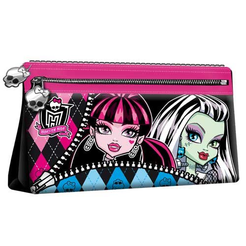 *Exclusiv*Monster High Federtasche Monster High Schlamperrolle Kosmetiktasche Draculaura Lackleder