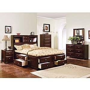 Manhattan Storage Bedroom Set Espresso Bedroom Furniture Sets