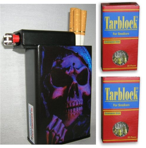 Tarblock Cigarettes Filters 2 Pack Plus Cigarette Case Grim Reaper