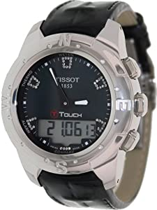 Tissot Women's T047.220.46.126.00 Black Mother-Of-Pearl Diamonds Index Dial Watch