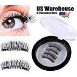 4 PCS/ 1 Set Full Eyes 3D Double Magnetic False Eyelashes Reusable Extension [US Warehouse] by ShopIdea