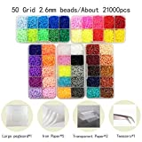 ptk12 Puzzles - Mini 2.6mm Hama Beads Include Tool Pegboard Perler Beads Kids Education DIY Fuse Bead Jigsaw Puzzle 3D for Children abalorios 1 PCs (Color: 50 and Tool)