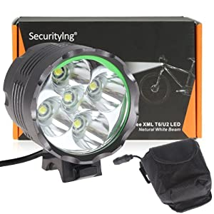 SecurityIng® 6000LM 5 x CREE XM-L T6 LED Waterproof 3 Modes Bicycle Light... by SecurityIng
