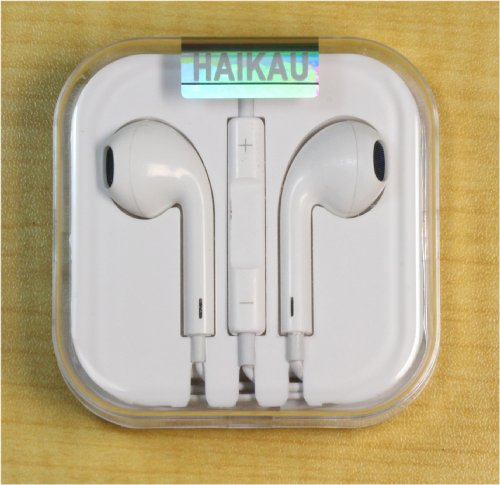 With Microphone White [And] Haikau Iphone5 / 4S / 4 Ipod Touch / Classic Ipad Compatible Stereo Earphone Remote Controller (Japan Import)