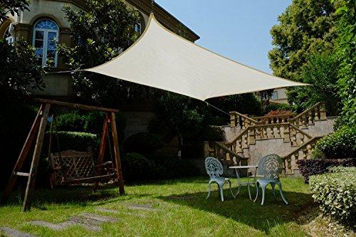 cool area rechteck 2 5 x 4 m sonnensegel sonnenschutz segel uv schutz f r balkon terrasse. Black Bedroom Furniture Sets. Home Design Ideas