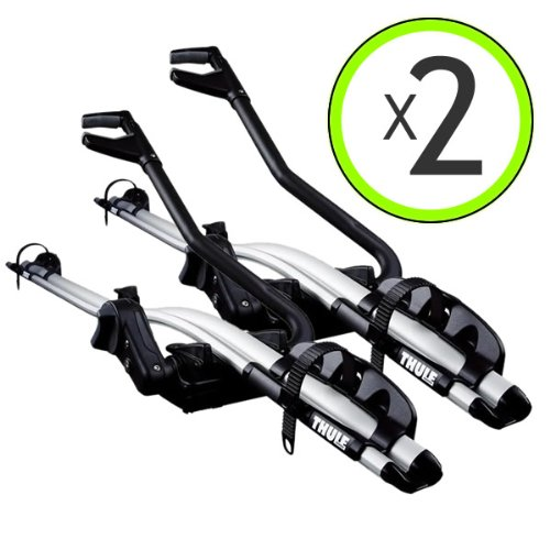 2x Thule 591 Cycle Carrier Bike Carrier Upright Roof Mount ProRide 2012 20kg