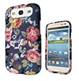 Designer Shabby Chic Vintage floral flowers roses SAMSUNG GALAXY S3 I9300 case full cover front and Back