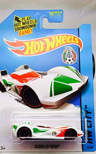2014 Hot Wheels Hw City Mexico World Cup Soccer - Scoopa Di Fuego - White - 1