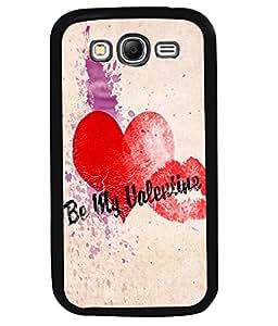 PRINTVISA Be MY Valentine Premium Metallic Insert Back Case Cover for Samsung Galaxy Grand Neo - I9060I - D6066