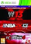 NBA 2K13 + WWE 13 + Top Spin 4