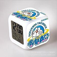 GUOHUA®Doraemon Anime Cartoon création réveil coloré pour enfants réveil réveil numérique horloge analogique horloge lumineuse