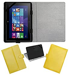 ACM LEATHER FLIP FLAP TABLET HOLDER CARRY CASE STAND COVER FOR NOKIA LUMIA 2520 YELLOW