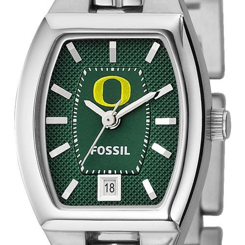 Fossil Oregon Ducks Ladies Stainless Steel Analog Cushion Watch