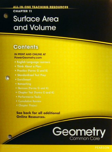 Surface Area and Volume Chapter 11 (All-In-One Teaching Resources Geometry Common Core)