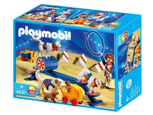 Jouet : Playmobil - 4237 - Educatrice  Et  Chiens