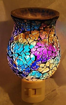 Blue/Green Mosaic Night Light - - Amazon.com