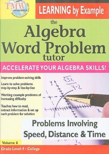 Algebra Word Problem Tutor: Speed Distance & Time [DVD] [Import]