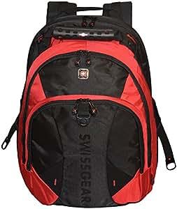 "Amazon.com: SwissGear® Pulsar 16"" Padded Laptop Backpack - Black/Red"