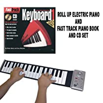 Roll Up Piano with Fast Track Music Instruction Book and CD Set