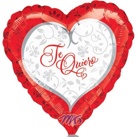 "Anagram International Te Quiero Script Foil Flat Balloon, 18"", Multicolor"