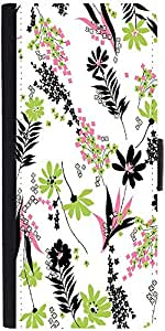 Snoogg White Leaves Pattern 2479 Designer Protective Phone Flip Case Cover For Apple Iphone 5 / 5S