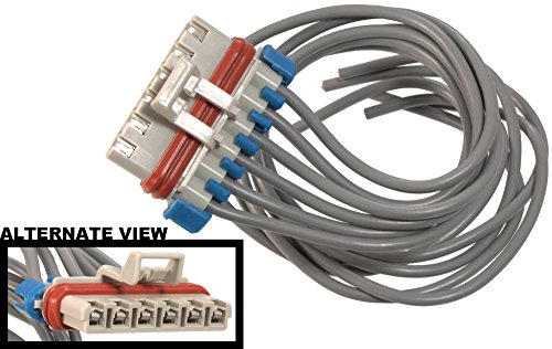 APDTY 756653 Wiring Harness Pigtail Connector 6-Wire Fits Numerous GM Vehicles & Components (HVAC Heating AC; Blower Motor Resistor; ABS EBCM Brake Control Module; (Replaces GM 15306007, PT1134) (Ebcm Module compare prices)