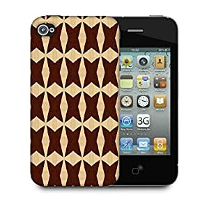 Snoogg Brown Strips Designer Protective Phone Back Case Cover For Apple Iphone 4