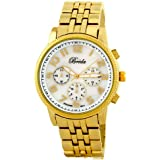 """Breda Women's 2303-gold """"Madison"""" Gold Mother-Of-Pearl Dial Metal Watch"""