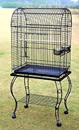 PARROT CAGE BIRD CAGES w STAND stands birds 906
