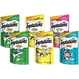 TEMPTATIONS Classic Treats for Cats Feline Favorites 3 Ounces, 6-Pouch Variety Pack