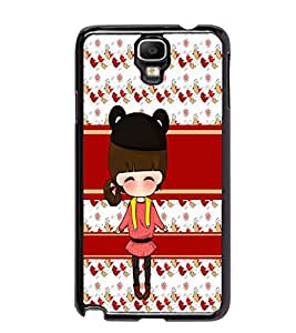 PrintDhaba Cute Doll D-5857 Back Case Cover for SAMSUNG GALAXY NOTE 3 NEO (Multi-Coloured)