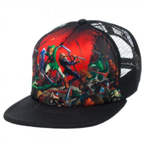Zelda Ocarina Of Time Black Adjustable Trucker Hat