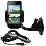 IGloo Premium: In Car Accessory Pack for LG Optimus Black P970 includes - Windscreen Suction Mount and In Car Charger