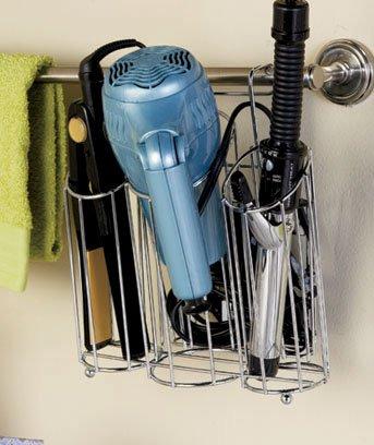 Chrome Hair Station Organizer