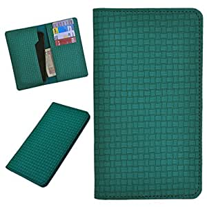 DCR Pu Leather case cover for Spice Smart Flo 359 (green)