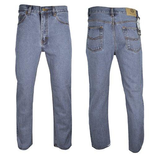 Raiken Regular Fit Straight Leg Jeans Mens Waist W30 Leg L29 Lightwash Blue