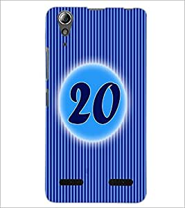 PrintDhaba Numerology Number 20 D-2578 Back Case Cover for LENOVO A6000 PLUS (Multi-Coloured)