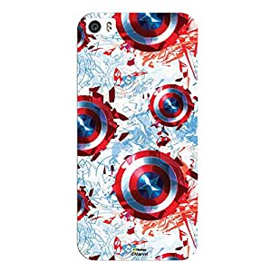 Hamee Marvel Civil War Captain America Iron Man Licensed Hard Back Case Cover For iPhone 6 Plus / 6s Plus Cover - Design 23