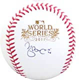 Yadier Molina Autographed 2011 World Series Baseball - (JSA)