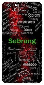Sabrang (Rainbow) Name & Sign Printed All over customize & Personalized!! Protective back cover for your Smart Phone : Samsung Galaxy E5