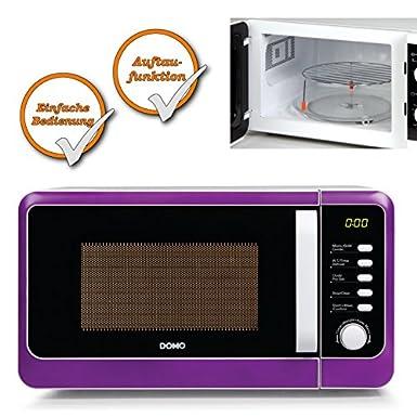 Micro-ondes avec fonction grill capacité 20 l Violet 1000 W