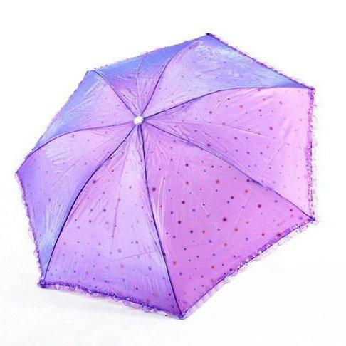 Paradise Changeable Taffeta Foldable Umbrella, Anti-UV Sun Umbrella, Parasol Series & Colors Varies