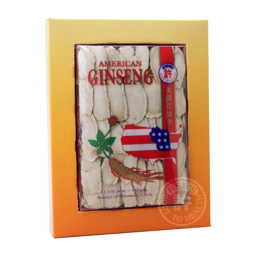 Hsu'S Ginseng 126.4, Slices Cultivated American Ginseng 4Oz