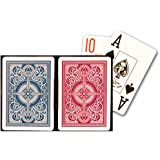 KEM Arrow Playing Cards: 2 Deck Set Red and Blue, Wide Jumbo