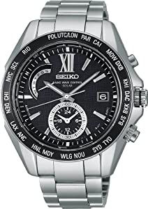 SEIKO BRIGHTZ Solar Radio Titanium Black Men 's watch SAGA099 [Japan Import]