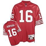 Reebok San Francisco 49ers Joe Montana Premier Throwback Jersey Large