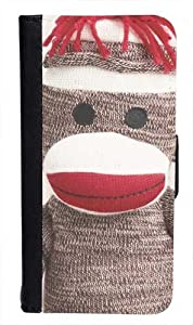 CellPowerCasesTM Sock Monkey Bi-fold iPhone 4 Case - Fits iPhone 4 & iPhone 4S