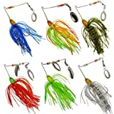 Fishing Hard Spinner Lure Spinnerbait Pike Bass Pack of 6