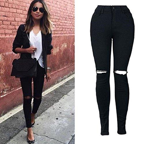 Jeans,WINWINTOM Le Donne Ginocchio Taglio Skinny Jeans Dei Pantaloni Slim Matita (XX--Large) (XL)